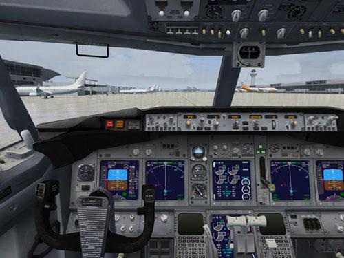 Microsoft Flight Simulator X preciziškai tiksliai atkuria lėktuvo valdymo prietaisus bei jį veikiančius fizikos dėsnius